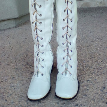 Vintage 60's Go Go Boots 6
