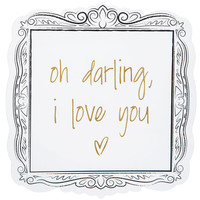 Oh Darling I Love You Wood Wall Decor | Hobby Lobby | 1641257