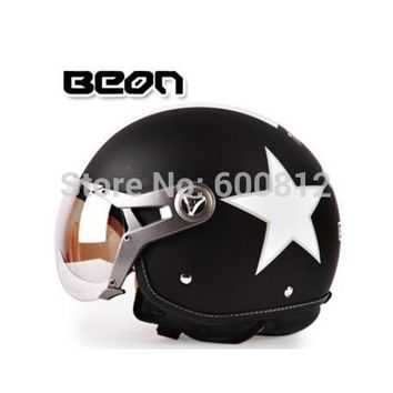 2017 New Netherlands BEON motorcycle half face helmet summer uv electric bicycle Pilot  Air force helmets safety hat size M L XL