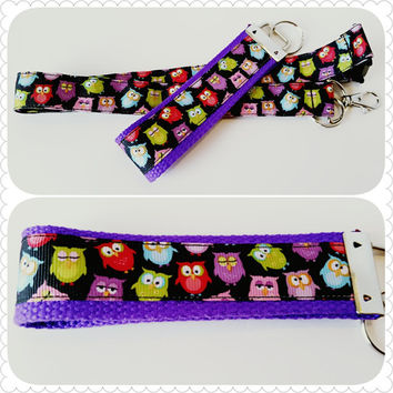 Owls badge holder, lanyard or keychain gift set
