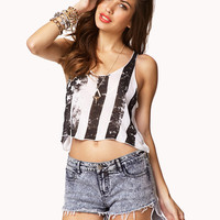 American Flag Cropped Tank