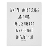 Poster for Framing Take All Your Dreams and Run