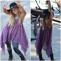 Xl Music Festival Lace Tunic Top, Young N Famous Bohemian Mexicali Beach ,boho Clothes, Stevie Nicks Style Gypsy Chic, True Rebel Clothing