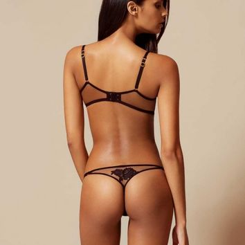 Demelza Thong Black