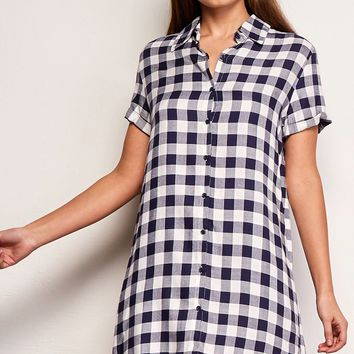 Women's BB Dakota Cicely Gingham Shirt Dress
