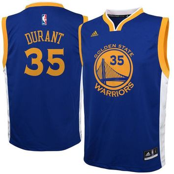 Youth Golden State Warriors Kevin Durant Royal Replica Road Jersey