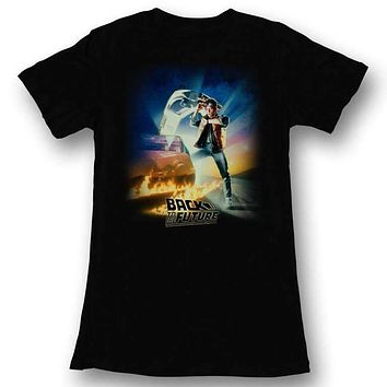 BTF Poster Back To The Future Juniors Tee Shirt