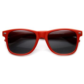 Retro Soft Rubberized Colorful Matte Horned Rim Sunglasses 9344