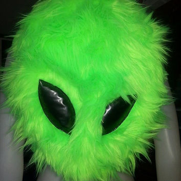 Alien UV Fur backpack bag