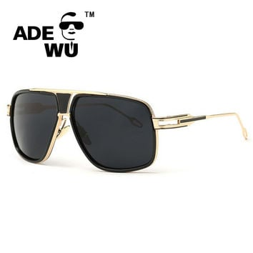 ADE WU Evidence Men's Sun Glasses Brand Designer Male Driving Oversized 18K Gold Sunglasses Women Shades Male Lunette De Soleil
