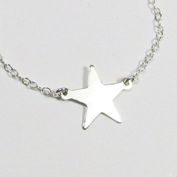 NEW--  Star Station Necklace, Sterling Silver, Lea Michele--Glee, Celebrity Inspired