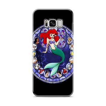 Ariel the Little Mermaid Stained Glass Samsung Galaxy S8 | Galaxy S8 Plus Case