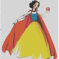 Disney Designer Princess Doll Snow White Cross Stitch Pattern PDF (Pattern Only)