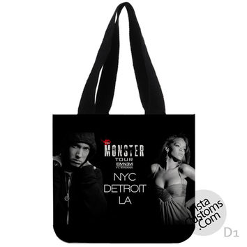 The Monster Eminem Featuring Rihanna tour poster New Hot, handmade bag, canvas bag, tote bag