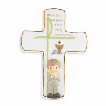 Precious Moments Boys First Communion Cross - Perfect First Communion Gift