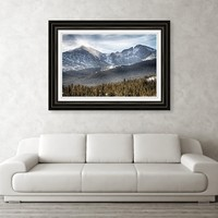 Longs Peak Winter View Framed Print