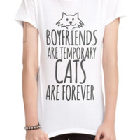 Cats Are Forever Girls T-Shirt 2XL