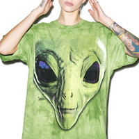 Mountain Outta Dis World Tee Green