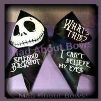 Nightmare Before Christmas Jack Skellington Cheer Bow