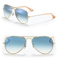 Ray-Ban Polarized Mirrored Aviator Sunglasses | Bloomingdales's