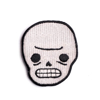 Awkward Skull Iron-On Patch