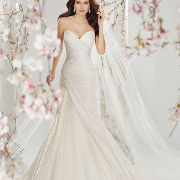 Sophia Tolli by Mon Cheri Y11401 Strapless Ruched Lace Bridal Gown