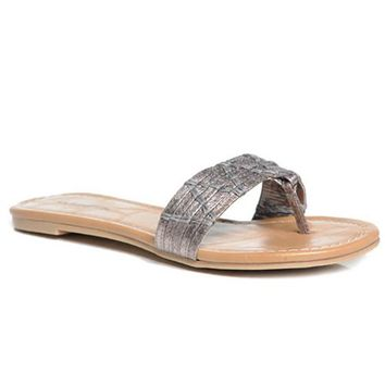 ARAMIS METALLIC FLAT SANDALS
