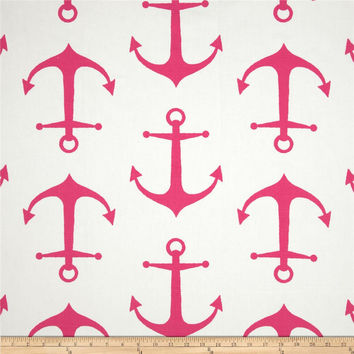 Hot Pink Anchors Crib Sheet - Only One