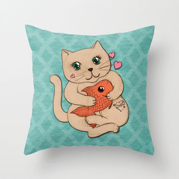 Sushi Love Throw Pillow by micklyn