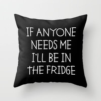 In The Fridge Throw Pillow by Moop