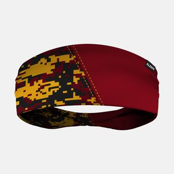 Arsenal Digi Camo Maroon Yellow Black Headband