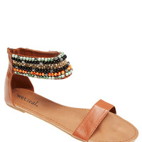 Beaded Cuff Sandals   Wet Seal