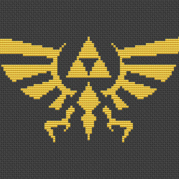 The Hyrule Crest Cross Stitch Pattern - The Legend of Zelda - Instant 2 Page PDF