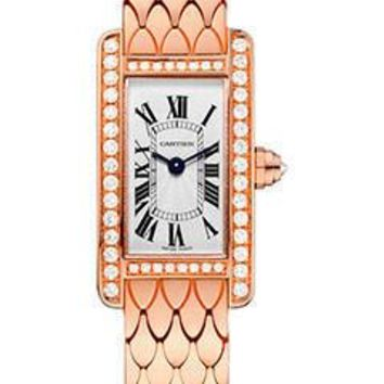 Cartier - Tank Americaine Mini - Pink Gold