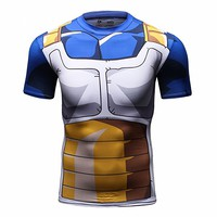Men's 3D Compression Shirt Skin Tight Anime Printing Short Sleeve