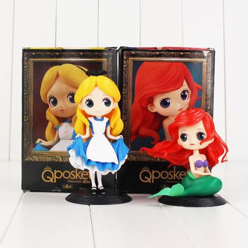 Q Posket Princess Figure Toy Alice in The Wonderland Ariel The Little Mermaid Beauty Model Dolls