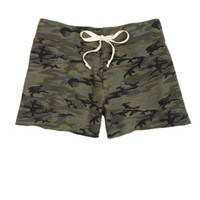 Camo Cutoff Shorts - Camo Green