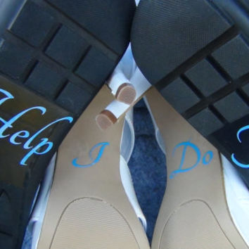 I Do Help Me Vinyl Stickers For Wedding High Heel Shoes Bridal Shower Gift Bride Groom Present Accessories Picture Props