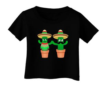 Fiesta Cactus Couple Infant T-Shirt Dark by TooLoud