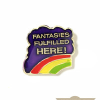 Fantasies Fulfilled Vintage Pin