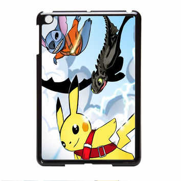 Stitch Pikachu And Toothless How To Train Your Dragon iPad Mini Case