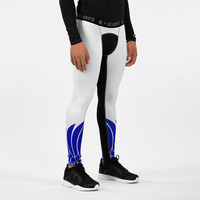 Icarus White and Blue Compression Tights / Leggings