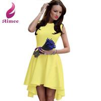 Summer Dresses 2016 New Fashion Women Dress O-neck A Line Sleeveless Dress For Women Vestidos Female