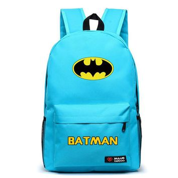 Free Shipping High Quality New Fashion Batman Backpack Boy Girl School Bags For Teenagers Casual Canvas Backpacks