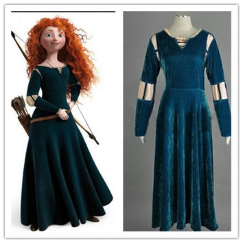 disfraz brave merida costume adult for girls princess brave dress adult halloween costumes for women princess party kids green