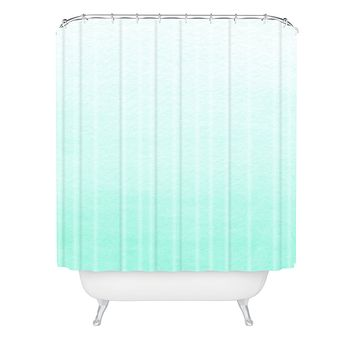 Social Proper Mint Ombre Shower Curtain