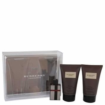 Burberry London (New) by Burberry Gift Set -- .15 oz Mini EDT + 1.3 oz Hair & Body Wash + 1.3 oz After Shave Emulsion (Men)