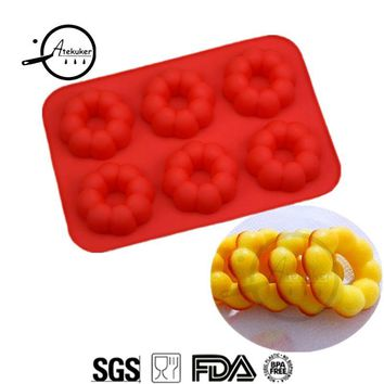 Atekuker Pumpkin Shape Silicone Mold For Baking Donuts Silicone Form Jelly Mold Cake Tools Bakery Silicone Molds
