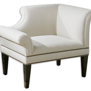 Uttermost Fontaine Right White Armchair - 23057