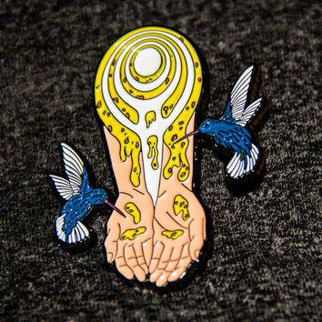 Drops of Nectar - Bassnectar Hat Pin